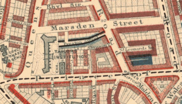 Charles Booth'smap Preston Street